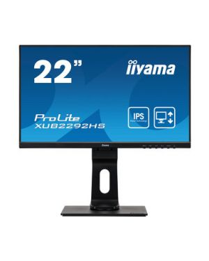 "iiyama -   PROLITE XUB2292HS-B1 22"" IPS technology panel with ultra flat front and height adjustable stand"