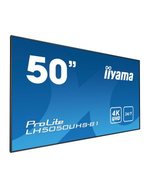 "iiyama ProLite LH5050UHS-B1  50"" Professional Digital Signage display with a 24/7 operating time, 4K UHD resolution and a landscape/portrait orientation"