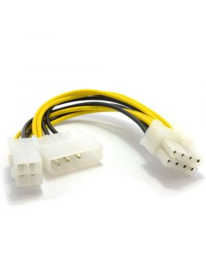 4 Pin ATX & 4 Pin LP4 Molex to 8 Pin EPS