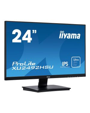 "iiyama ProLite XU2492HSU-B1 24"" IPS technology panel with an ultra-slim bezel and ultra-flat front"