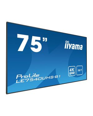 "iiyama ProLite LE7540UHS-B1  75"" Professional Digital Signage display with an 18/7 operating time, 4K UHD resolution and an OPS slot"