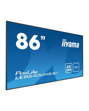 "iiyama ProLite LE8640UHS-B1  86"" Professional Digital Signage display with an 18/7 operating time, 4K UHD resolution and an OPS slot"