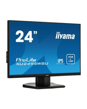 "iiyama ProLite XU2495WSU-B1 24"" ultra slim monitor featuring IPS Panel Technology with a 16:10 aspect ratio"