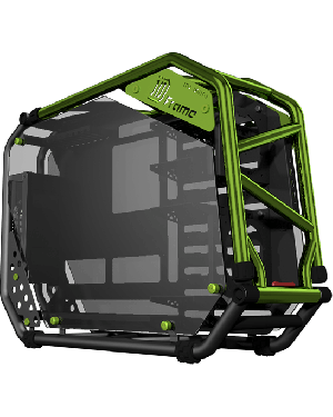 InWin D-Frame Signature Series Gaming Case (Black/Green)