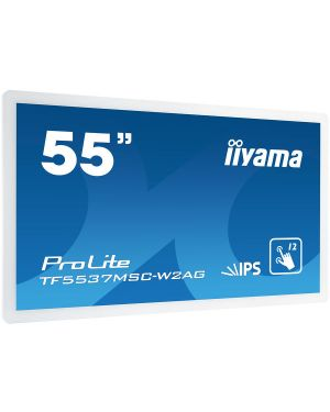 "iiyama ProLite TF5537MSC-W2AG 55"" white open frame touch monitor featuring an eye catching edge-to-edge glass bezel"