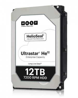 WD HGST 3.5in 26.1MM 12000GB 256MB 7200RPM SAS ULTRA 4KN ISE P3 HE12