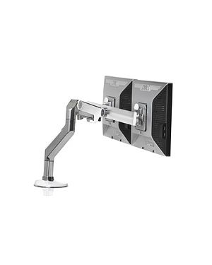 Humanscale Polished Aluminum w White Trim M8 Monitor Arm w/ Crossbar (Manufacturer's SKU: M8CW1C)
