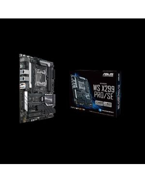 Asus WS X299 PRO/SE  Intel LGA 2066 ATX motherboard with DDR4 4133MHz, dual M.2 and M.2 heatsink, U.2, USB 3.1 Gen 2 connectors, ASMB9-iKVM and ASUS Control Center.