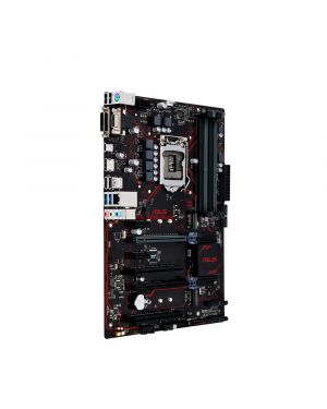Asus PRIME B250-PLUS  Intel LGA-1151 ATX motherboard with LED lighting, DDR4 2400MHz, dual M.2, Intel Optane memory ready, HDMI, SATA 6Gb/s, USB 3.0