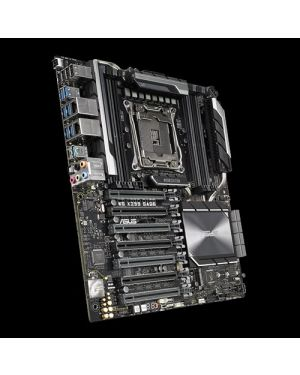 Asus WS X299 SAGE  Intel LGA 2066 CEB motherboard with quad-strength graphics supports, DDR4 4133MHz, dual M.2 & U.2, USB 3.1 Gen 2 connectors, and ASUS Control Centre